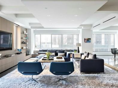 清新宜家风格客厅原木色电视柜装修设计图 (1)