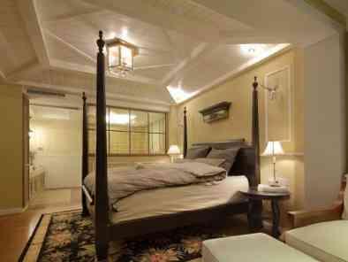 四室两厅温馨田园风格设计效果图 (5)