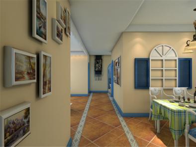 地中海三居室卫生间装修效果图 (5)