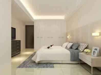 现代风格卧室装修效果图(1) (5)