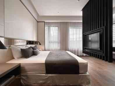 现代风格卧室装修效果图(2) (5)