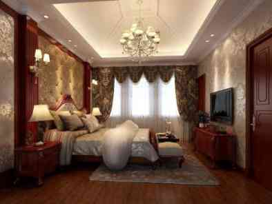 中式风格卧室装修效果图 (12)