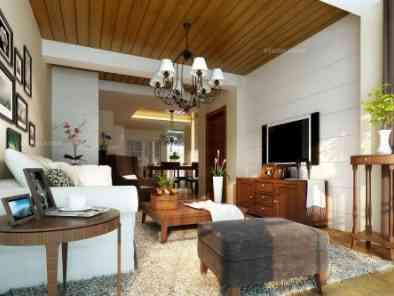 美式风格客厅装修效果图 (8)