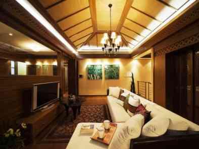 东南亚风格客厅装修效果图 (8)