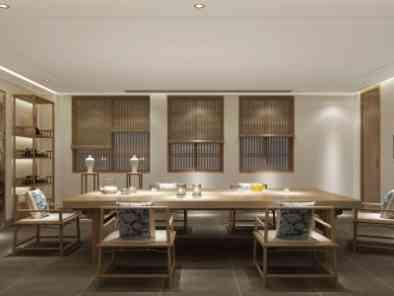 中式餐厅装修效果图 (6)