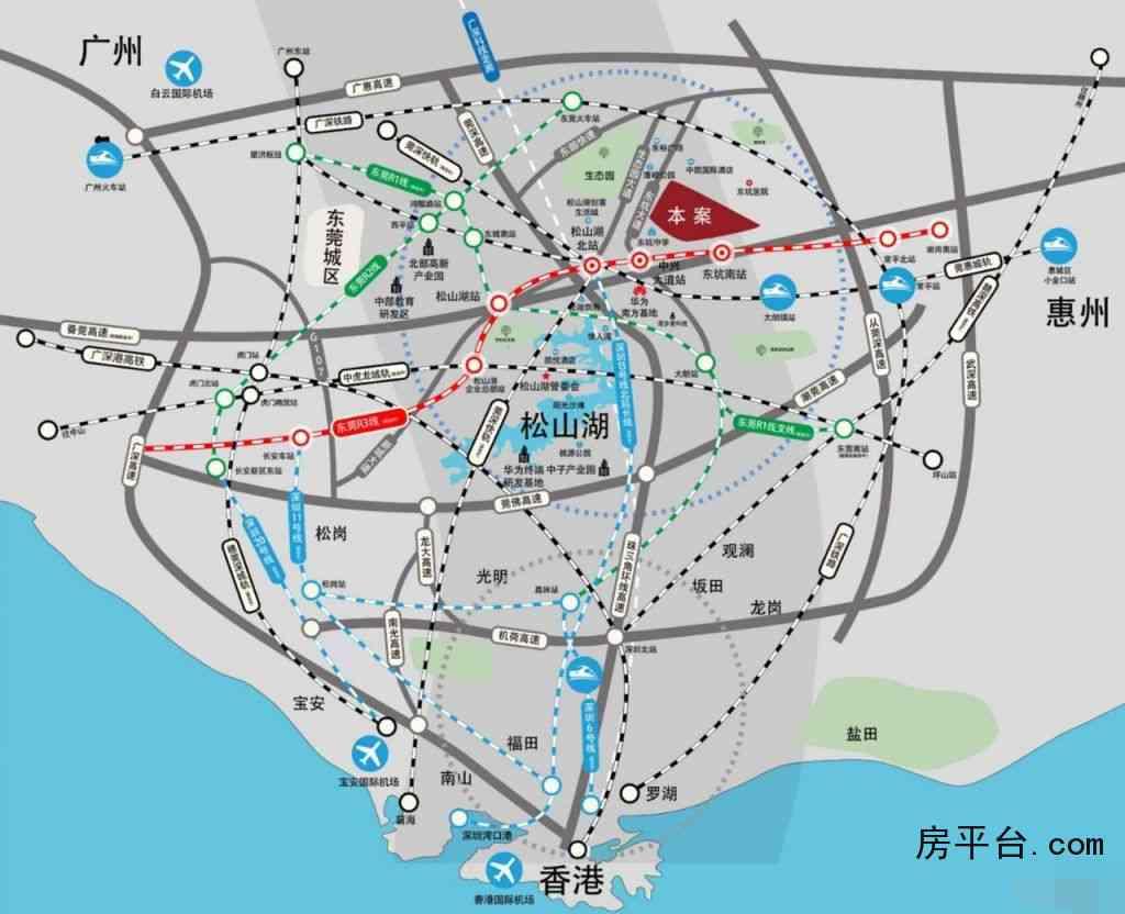 和昌众筑·中央松湖交通图